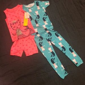 NWT Carter's Just One You Girls 2T 2 piece PJ Set